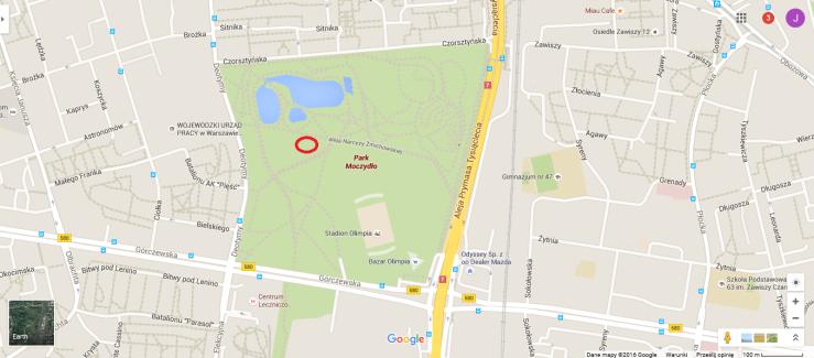 park moczydło mapa